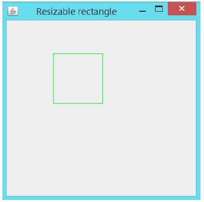 GUI application to move and resize a rectangle using java